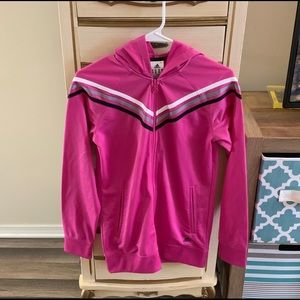 Pink Adidas Hooded Track Jacket Youth XL